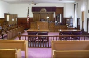 Nuckolls County Courthouse courtroom