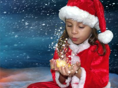 little girl, Christmas magic, true meaning