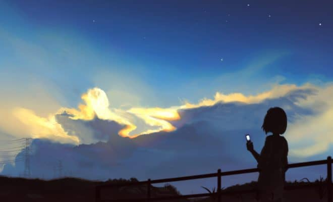 http://animeflow.net/921/dark--grass--original--phone--scenic--short_hair--silhouette--sky--stars--sunset
