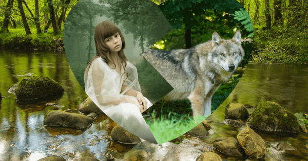 River Stone Girl Wolf
