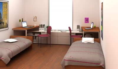 """College dorm room"" by Footprint is licensed under CC BY 2.0"