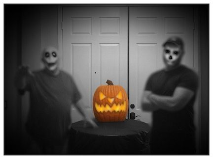 Two demons & a pumpkin