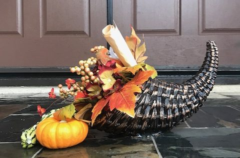 Cornucopia on porch