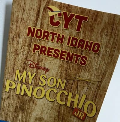 theater program, pinocchio, north idaho