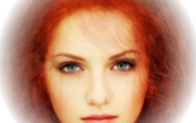 Average face of 12 red-headed women