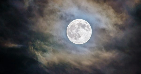 The First Supermoon on 2018