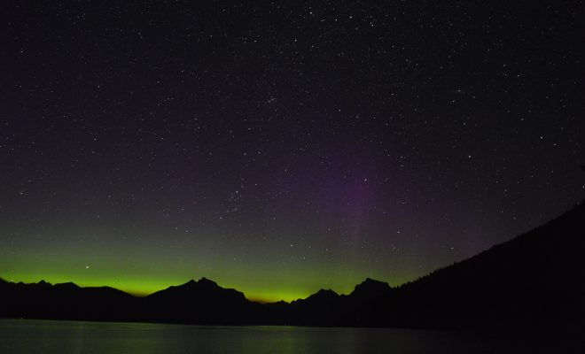 Northern Lights over Lake McDonald