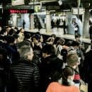 Crowds at a Train